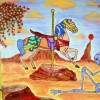"""""""Merry-Go-Round"""" 2015 Acrylic on Canvas by Phillip J. Speciale"""