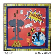 Nuclear war is depicted in this shadow box