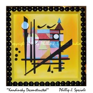 Colorfull shadowbox featuring a representation of Kandinsky