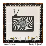 A television it depicted hypnotizing people in this piece