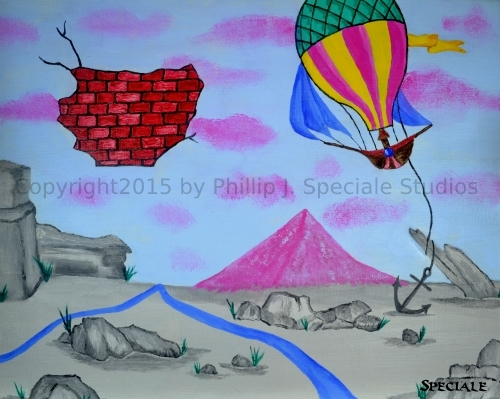 """""""Fly Away"""" 2015 20 x16 acrylic on canvas by Phillip J. Speciale"""