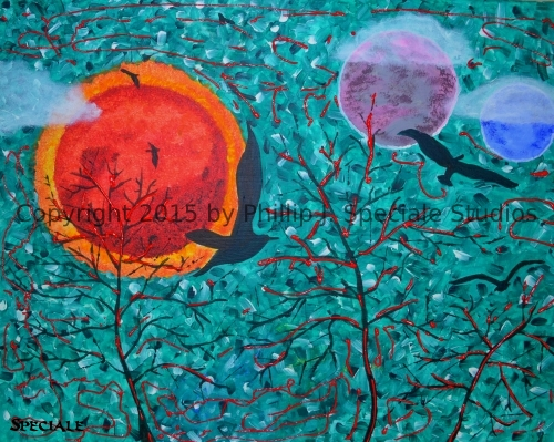 """""""Sun and Moon"""" 2015 20 x 16 by Phillip J. Speciale"""