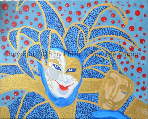 """""""The Jester"""" 2015 20"""" x 16"""" Acrylic on canvas by Phillip J. Speciale"""