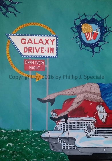 """""""Open Every Night"""" 18"""" x 24"""" Acrylic on canvas by Phillip J. Speciale"""