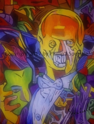 """""""The Phantom"""" 16″ x 20″ Acrylic on canvas. by Phillip J. Speciale"""
