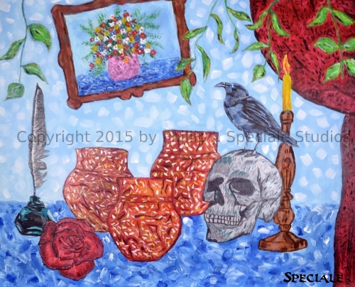 """""""Urns"""" 2015 20 x 16 acrylic on canvas by Phillip J. Speciale"""