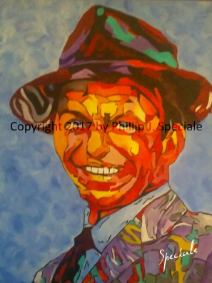 """""""Ol' Blue Eyes"""" 16"""" x 20"""" Acrylic on canvas by Phillip J. Speciale"""